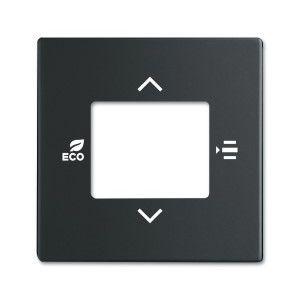 ABB KNX Centraalplaat voor thermostaat f-matzwart 6109/03-885