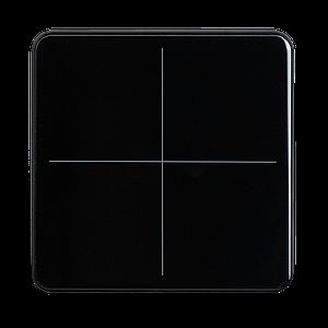 Elsner KNX eTR Glastaster 4v - zwart