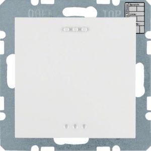 Hager KNX CO₂ / luchtvochtigheid / temperatuur sensor S.1/B.3/B.7 polarwit glanzend