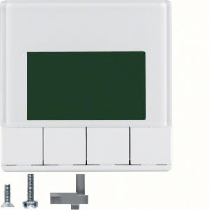 Hager Info-Display  Q.1/Q.3 polarwit soft finish