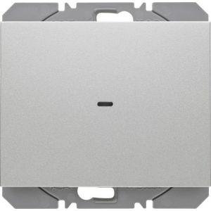 Hager KNX RF wandzender 1-voudig batterij K.1/K.5 aluminium mat
