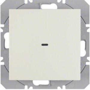Hager KNX RF wandzender 1-voudig batterij S.1/B.3/B.7 wit glanzend