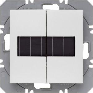 Hager KNX RF wandzender 2-voudig zonnecel S.1/B.3/B.7 polarwit glanzend