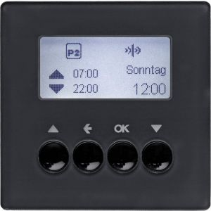 Hager KNX RF schakelklok jaloezie Q.1/Q.3 antraciet soft finish