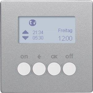 Hager KNX RF schakelklok-opzetmodule Q.1/Q.3 aluminium