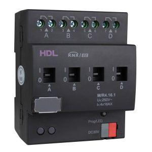 HDL M/R04.16.1 4 kanaals schakelactor met stroom detectie KNX 230V/AC 16A