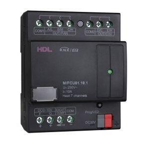 HDL M/FCU01.10.1 Fan coil unit controller 5x uitgang 10A en 2x uitgang 0-10V DC KNX