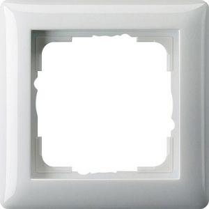 Gira Afdekraam 1v zuiver wit glanzend ST55