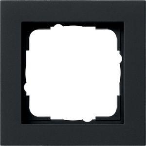 Gira Afdekraam 1v zwart mat E2