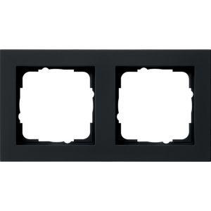 Gira Afdekraam 2v zwart mat E2