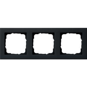Gira Afdekraam 3v zwart mat E2