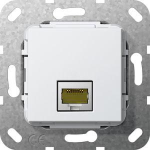 Gira Netwerkaansluitdoos modulair cat.6A 1v zuiver wit glanzend 55