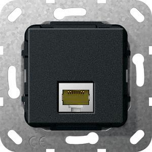 Gira Netwerkaansluitdoos modulair cat.6A 1v zwart mat 55