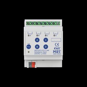 MDT Schakelactor 4-voudig 10A 230VAC C-last standaard 140µF