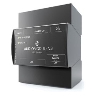 Bab-tec KNX audiomodule speaker out voor Logitech media server of als stand-alone media player