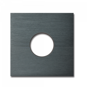 Basalte Auro wall cover - brushed dark grey
