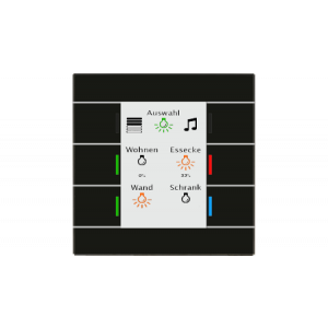 MDT Glazen KNX tastsensor II Smart zwart