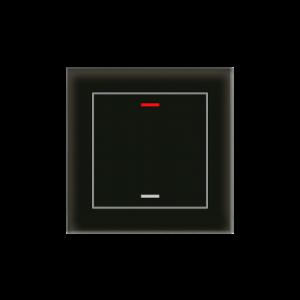 MDT KNX Glastaster II Light enkelvoudig zwart