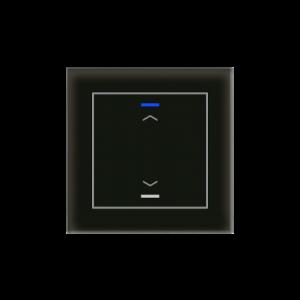 MDT KNX Glastaster II Light enkelvoudig zwart - pijl