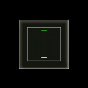 MDT KNX Glastaster II Light enkelvoudig zwart - met temperatuursensor
