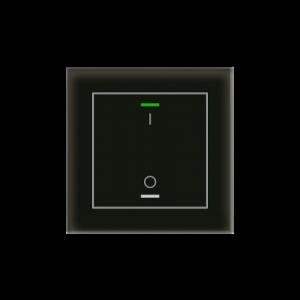 MDT KNX Glastaster II Light enkelvoudig zwart - I/O met temperatuursensor