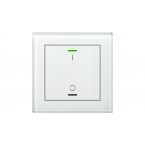 MDT KNX Glastaster II Light enkelvoudig wit - I/O met temperatuursensor