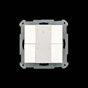 MDT KNX taster 4-voudig Plus LED zuiver wit glanzend