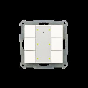 MDT KNX taster 6-voudig Plus LED zuiver wit mat