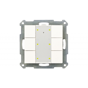 MDT KNX taster 6-voudig Plus LED zuiver wit glanzend