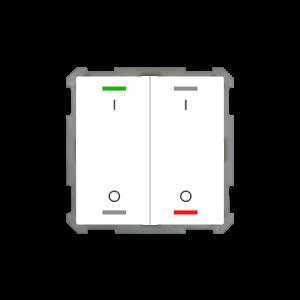 MDT KNX taster light 63 tweevoudig - I/O met temperatuursensor - zuiver wit glanzend