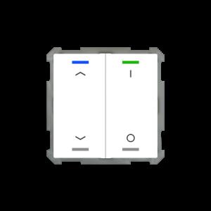 MDT KNX taster light 63 tweevoudig - pijl en I/O met temperatuursensor - zuiver wit glanzend