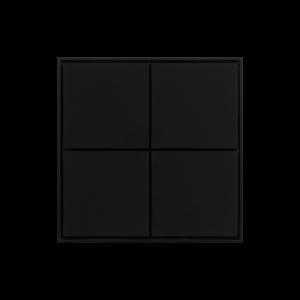 Ekinex KNX 4 voudige taster met vierkante wippen Zwart