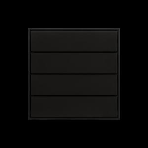 Ekinex KNX 4 voudige taster met langwerpige wippen Zwart