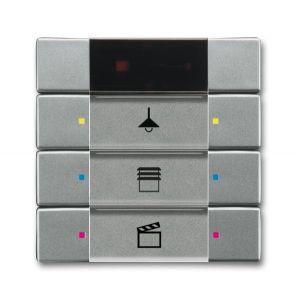 ABB Tastsensor solo KNX IR interface + 3v s-grijs metallic 6129/01-803