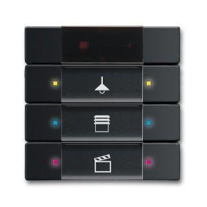 ABB Tastsensor future linear KNX IR interface + 3v f-matzwart 6129/01-885