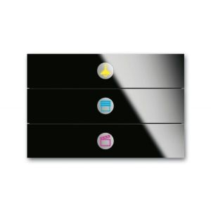 ABB Tastsensor i-bus KNX priOn sensor 3v c-glas zwart 6342-825-101