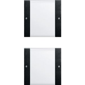 Gira bedienings / wippenset 2v zwart mat 55