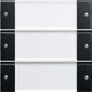 Gira bedienings / wippenset 3v zwart mat 55