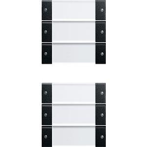 Gira bedienings / wippenset 6v zwart mat 55