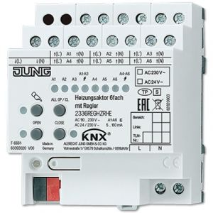 Jung KNX verwarmingsactor 230V/24V met regelaar