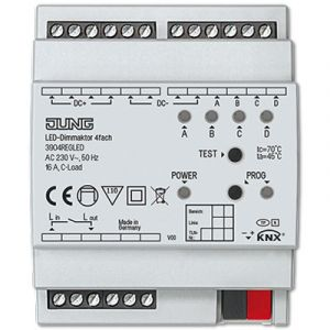 Jung KNX LED dimactor 4 voudig 12-24VDC DIN-rail