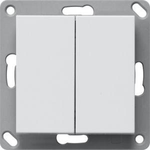 Batterijloze KNX RF taster 2 voudig 55mm