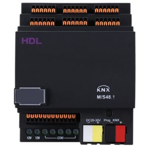 HDL M/S48.1 48 kanaals binaire ingang DIN-rail potentiaal vrij KNX