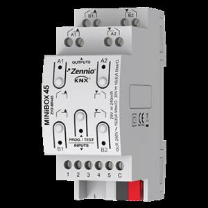 Zennio MINiBOX 45 - 4 uitgangen 16A / 5 ingangen A/D