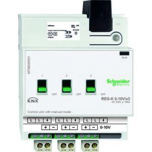 Schneider Electric KNX besturingseenheid 0-10V 3 voudig met handbediening