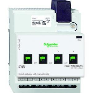 Schneider Electric KNX schakelactor 4 voudig 16A met handbediening