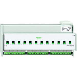 Schneider Electric KNX schakelactor 12 voudig 16A met stroomdetectie en handbediening