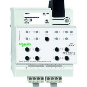 Schneider Electric KNX rolluikactor 4x 230V 10A met handbediening