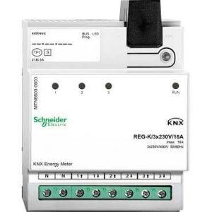 Schneider Electric KNX Energiemeter 3 voudig 230 V 16 A