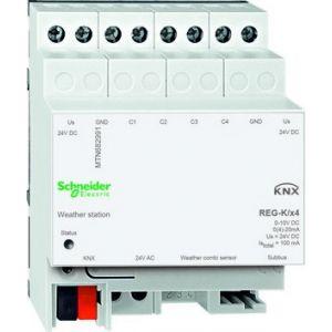 Schneider Electric KNX weerstation 4 kanaals met 0-10V ingangen